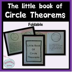 This little book of circle theorems makes learning circle theorems a little more fun!!  It summarizes six rules.  For each rule, students can complete the missing words in the text and then provide an example in the space provided. With your purchase, you will get a pdf template of the foldable and a pdf of instructions (including photos of the foldable in use).