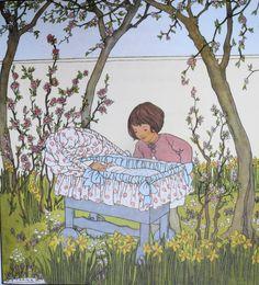 Elsa Beskow, Illustration Art, Nursery, Children, Birth, Cards, Anime, Vintage, Baby