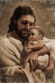 What Demons mean for Baal, ends up in the arms of their Creator and Savior, Christ Jesus! Nothing separates innocent children from the Love and eternity with Christ. Images Du Christ, Images Bible, Pictures Of Jesus Christ, Image Jesus, Lds Art, Saint Esprit, Jesus Art, Jesus Is Lord, Heavenly Father
