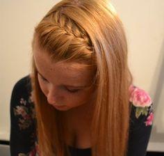 braided bangs. Professional hair style