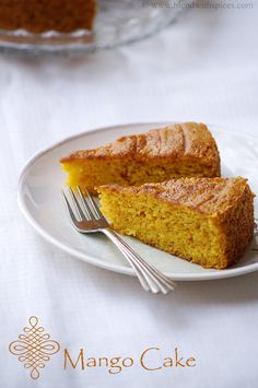 Blend with Spices: Vegan Mango Cake Recipe ~ Eggless Mango Cake Recipe ~ Step by Step Pictures