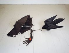 crow from umbrella Fluxus, Damien Hirst, Action Painting, Op Art, Installation Art, Creative Art, Concept Art, Sculptures, Creatures