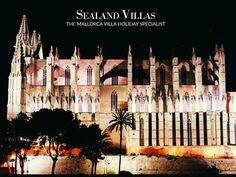 Majestic and full of history, the Cathedral of Palma can't be left unvisited. Spain Holidays, Majorca, Holiday Fun, Cathedral, Villa, History, Historia, History Activities, Cathedrals