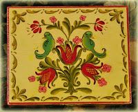 Rosemaling with birds.