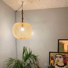 Bamboo Pendant Light, Repurposed Fish Trap Ceiling Lamp, Asian Oblong and Round Woven Bamboo Hanging Lamp, Boho Chinese Lantern / Bamboo Pendant Light, Round Pendant Light, Bamboo Lamp, Rustic Pendant Lighting, Ceiling Canopy, Ceiling Lamp, Ceiling Lights, How To Make Lanterns, Lantern Making
