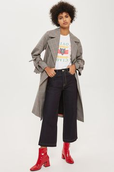 MOTO Raw Denim Cropped Wide Leg Jeans - New In Fashion - New In - Topshop USA