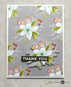 Die cut element and pop it up. Stamped Background Video by Jennifer McGuire Ink