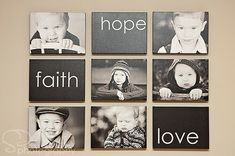Photo Wall Collage- love the idea