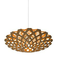 Flax Iight shade by David Trubridge, available now in two sizes and eight colours from Firefly.