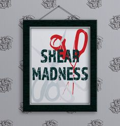 New to InspinsterGadget on Etsy: Print - Shear Madness. Puns. Crafty. Crafty Girl. Crafty Gift. Hairdresser Gift. Sewing. Sewing Gifts. Gift. Salon Decor. Salon. Hair Salon. (10.00 USD)
