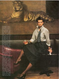 'The Menswear Prerogative' from……………Vogue March 1984 feat Lise Brande & Julie Wolfe