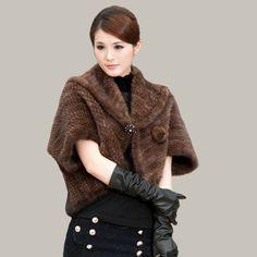 Cheap envío gratis a través de dhl/ems/tnt invierno moda elegante capa de piel de visón piel de visón punto prendas abrigo de visón punto, Compro Calidad Pieles y Pieles de Imitación directamente de los surtidores de China: Free Shipping Retail/wholesale Natural Fashion Rabbit Fur Shawl Ladies' Knitted Rabbit Fur Poncho 12 COLORS IN STOCKUS $