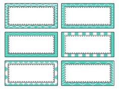 These mint green labels are perfect for those teachers who like to stay on trend. The pack includes both round and rectangle labels, desk name tags, and a lesson plan/gradebook cover. Update your classroom with this pastel. Printable Labels, Printables, Desk Name Tags, Tag Templates, Arabic Lessons, Easel Activities, Student Data, Borders And Frames, Junk Journal