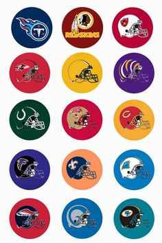Free Bottle Cap Images: NFL National Football League Free digital bottle cap images