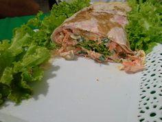 Sanduiche de pão folha.... muito bom! #euquefiz