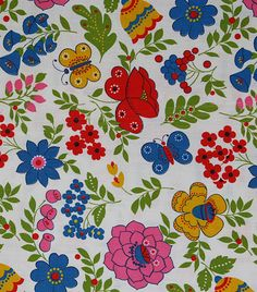 This pretty and vibrant fabric would be perfect to use for the suitcase project!