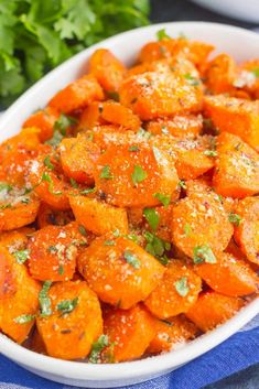 These Parmesan Honey Roasted Carrots make a deliciously easy side dish that's ready in no time. Packed with sweet and savory flavors and roasted until tender, these carrots are fresh, flavorful and perfect alongside any dish!