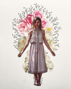 anthropologie flower collage by kate rabbit - No. 46/100