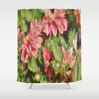 Shower Curtain featuring Pretty In Paint 5 by gypsykissphotography
