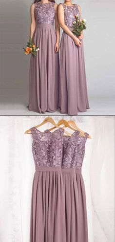 lace chiffon Dusty Purple Lace Chiffon Sleeveless Long Bridesmaid Dresses, This dress could be custom made, there are no extra cost to do custom size and color. Description of dres Dusty Purple Dress, Purple Lace, Backless Prom Dresses, Black Prom Dresses, Pretty Dresses, Burgundy Bridesmaid Dresses, Wedding Bridesmaid Dresses, Bride Dresses, Chiffon Wedding Gowns