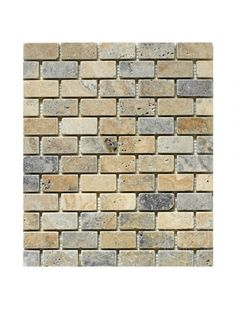 Marbleandthings is a leading US importer and wholesaler of Travertine Yellow (Gold) Tumbled Mesh Mounted Mosaic Tile.