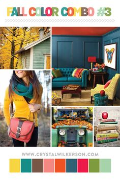 """This is my final """"Fall-themed"""" mood board for now. I have loved putting together these color combos! I hope they've inspired you. I'm expecting a baby any day & will probably be skipping nex..."""