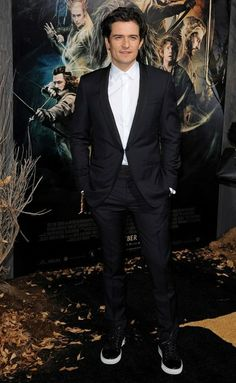 Orlando Bloom at 'The Hobbit: The Desolation of Smaug' premiere in New York.
