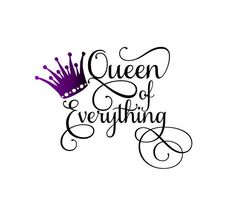 Excited to share this item from my #etsy shop: Queen of Everything SVG     crown
