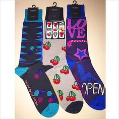 Gamblers Lucky Socks are just in! #PerPedesSocks #lasVegas #vegas #rollem #dice #die #backgammon #casino #slots #lucky7s #cherries #love #open #sexy #sleek #fun #hot #menswear #menssocks #fashion #socklovemg #msgphotography #instyle ✔️✨