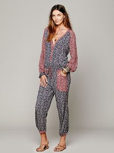 Womens Leia Jumpsuit from Free People on shop.CatalogSpree.com, your personal digital mall.