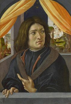 "Raffaellino del Garbo (1466-1524) ~ Portrait of a Man ~ 1500 ~ Raffaellino del Garbo was a Florentine painter of the early Renaissance.His real name was Raffaello Capponi; ""del Garbo"" was a nickname. He was a pupil of Filippino Lippi, with whom he remained till 1490. He accompanied Filippino to Rome, where he painted the ceiling of the chapel of St. Thomas Aquinas (Caraffa Chapel) in the church of Santa Maria sopra Minerva."