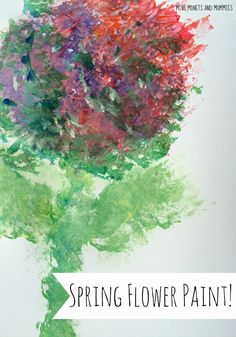 Kids' spring art! Textured impressionist painting project with Renoir. Also include color-mixing.