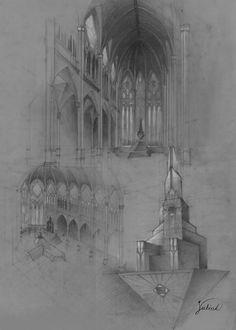 Throne hall concept. 50x70cm