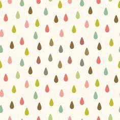 Papel de parede infantil céu e espaço gotas rosas, verdes, azuis 021