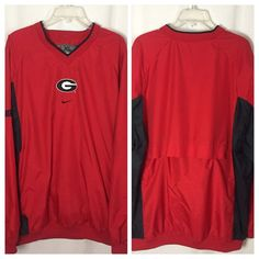 450 Nike NCAA Georgia Bulldogs XL Baseball Warmup Windbreaker Pullover Nylon Top #Nike #GeorgiaBulldogs
