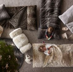 Luxe Faux Fur Sleeping Bag - Miss8 would live in this for the holidays!!