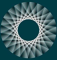 Spirograph - teal+ grays