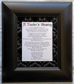 A TEACHER'S BLESSING (8x10) | Teachers are more than educators. They are compassionate community leaders, entrusted with a parent's most valuable and cherished gift: Their child. Our collection line of prayers and blessings for teachers celebrates the critical role these special individuals play in the lives of children, as well as the larger community in which we live and work. | #Christian #prayer #blessing #scripture #gift