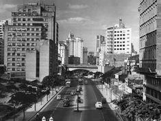 Avenida Nove de Julho, final da década de 40. (Foto: Werner Haberkorn/Fotolabor)