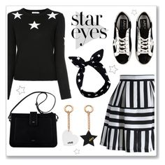 """""""Star Eyes"""" by hellodollface ❤ liked on Polyvore featuring Guild Prime, Golden Goose, Lulu in the Sky and StarOutfits"""