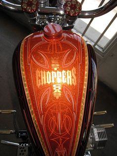 Custom Choppers, Custom Harleys, Custom Bikes, Custom Motorcycles, Motorcycle Paint Jobs, Motorcycle Tank, Jessy James, Motos Harley Davidson, West Coast Choppers