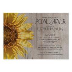 Shop Rustic Sunflowers Bridal Shower Invitations created by topinvitations. Bridal Shower Cards, Bridal Shower Decorations, Bridal Shower Invitations, Invites, Invitation Design, Invitation Ideas, Summer Bridal Showers, Couple Shower, Shower Party