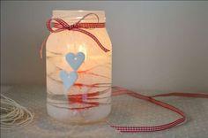 Decorazioni di Natale con barattoli di vetro - Vaso con cuoricino