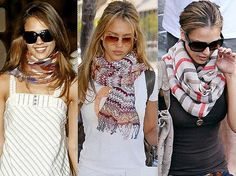 Chic Summer Style:  Scarves  An oversize scarf is virtually weightless, versatile and an affordable accessory for any budget. Not only is the scarf a beautiful detail used to complete your outfit, it provides warmth from drafty air conditioned rooms and is even sun protection!