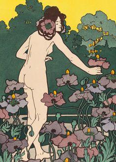 Hans Christiansen, »L'heure du berger« (»Schäferstunde«), 1898