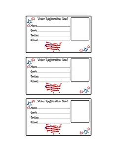 Voter Registration Card- Election