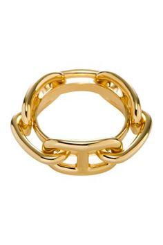 Vintage Hermes Metal Scarf Ring