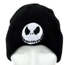 Jack Skellington Evil Grin Cuff Beanie Nightmare Before Christmas Knit Cap
