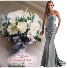 Feminine full length embellished maxi occasion wedding bridesmaid prom evening ballgown dress in a beautiful silver grey colour Beautiful fitted