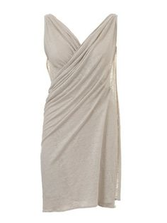 Wrap Dress: The armholes are two slits in the fabric. Then the dress is draped around the body You will need: Linen Jersey, 125 cm wide, 1.80 m for all sizes. Recommended fabric : fine jersey fabrics.